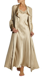 Glamour silk-satin robe