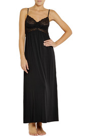 Donna Karan Sleepwear Lace and stretch-jersey nightdress