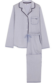 Nightfall striped cotton-blend jersey pajama set
