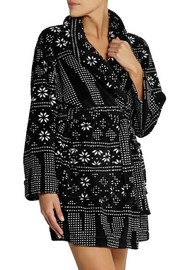 DKNY Snow Day printed fleece robe