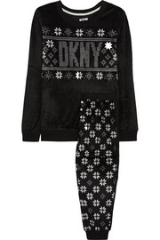DKNY Snow Day printed fleece pajama set