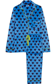 Winter's Eve printed fleece pajama set