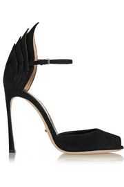 Sergio Rossi Folded suede pumps