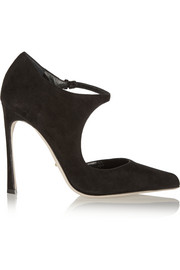 Sergio Rossi Suede Mary Jane pumps