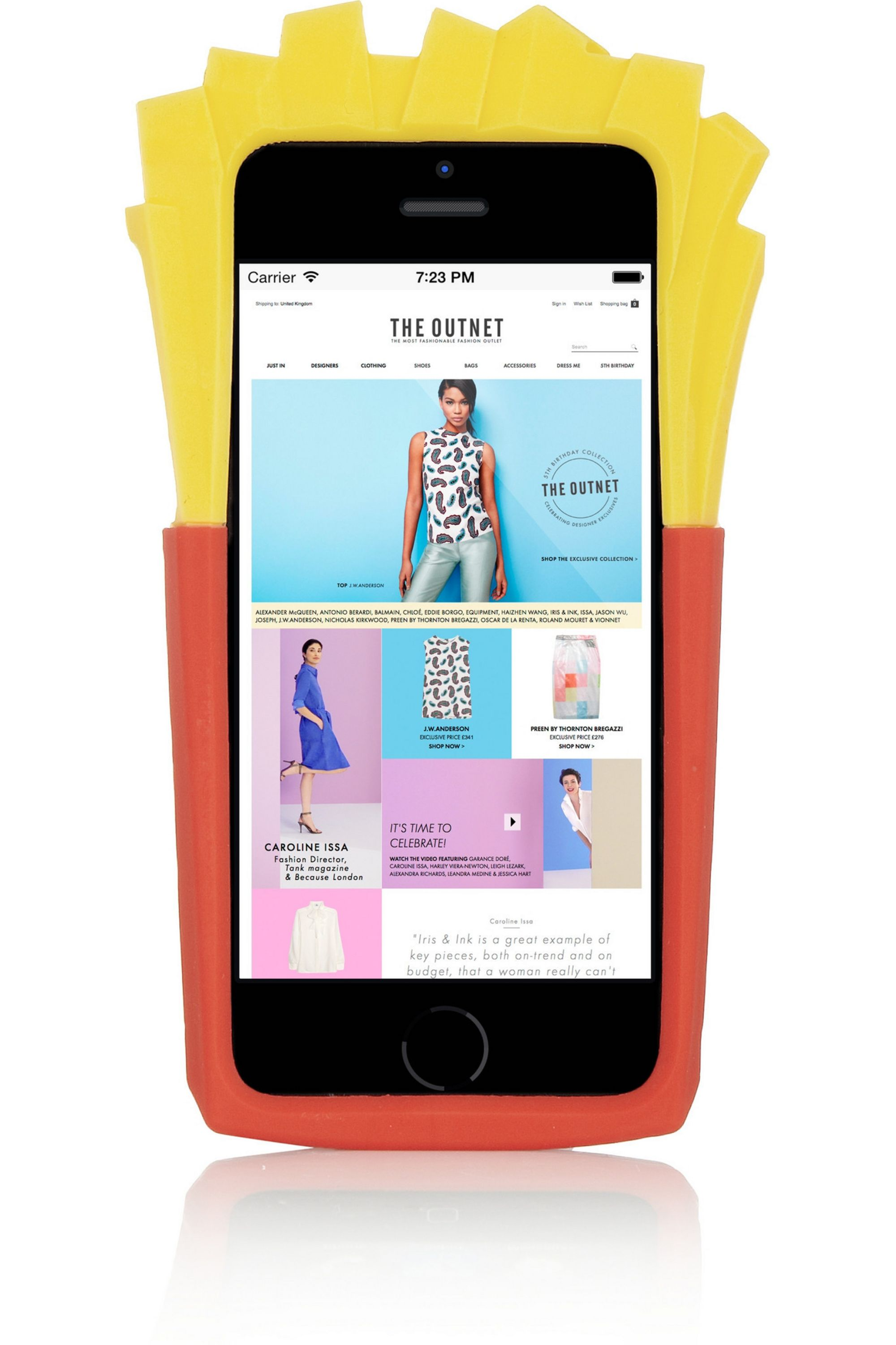 Red French Fries Iphone 5 Case Moschino Net A Porter