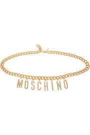 Moschino Gold-plated chain-link waist belt