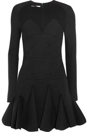 Antonio Berardi Pleated scuba-jersey mini dress