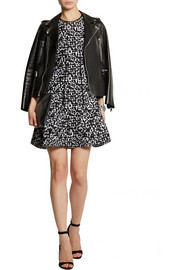 Antonio Berardi Leopard-intarsia stretch-knit mini dress