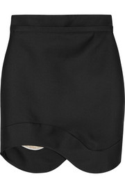 Antonio Berardi Asymmetric satin-twill mini skirt