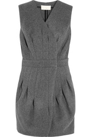 Antonio Berardi Pleated wool-felt mini dress