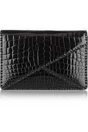 Bottega Veneta Patent-crocodile clutch