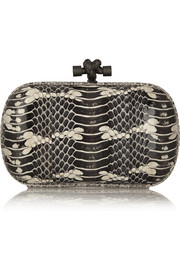 Bottega Veneta The Knot ayers-trimmed snake clutch