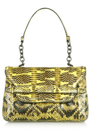 Bottega Veneta Ayers-trimmed snake shoulder bag