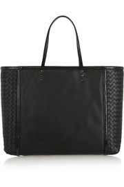 Bottega Veneta Shopping ayers-trimmed leather tote
