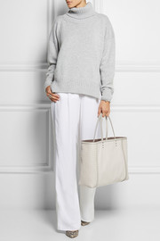 Bottega Veneta Shopping watersnake-trimmed leather tote