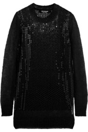 Junya Watanabe Sequined mohair-blend sweater