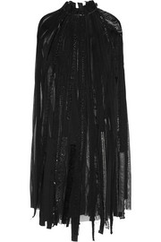 Junya Watanabe Patchwork georgette dress