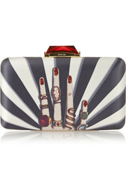 Kotur Espey embellished printed satin box clutch