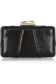 Kotur Espey crystal-embellished elaphe box clutch
