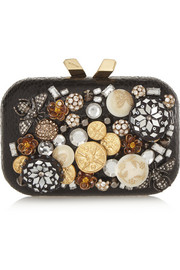 Kotur Margo embellished elaphe clutch