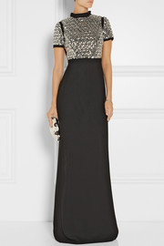 Gucci Embellished silk gown