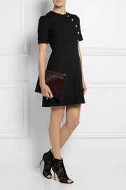 Gucci Embellished wool-blend mini dress