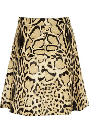 Gucci Leopard-print calf hair skirt