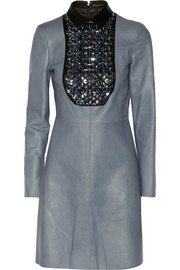 Gucci Embellished leather dress
