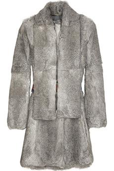 Matthew WilliamsonLong belted rabbit coat
