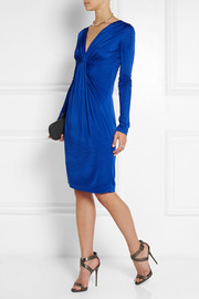 Diane von Furstenberg Wrap-effect satin-jersey dress