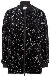 Fendi Paint-splattered shearling coat