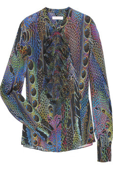 Matthew Williamson Printed Silk Blouse