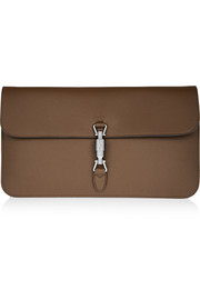 Jackie leather clutch