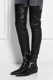 Roland Mouret Aigret leather over-the-knee boots