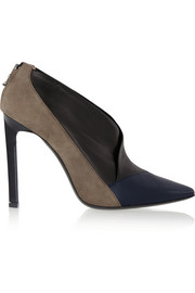 Roland Mouret Russell leather and suede pumps