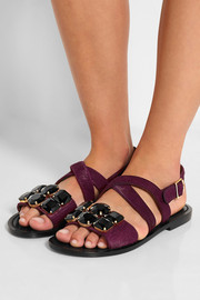 Marni Embellished calf hair sandals