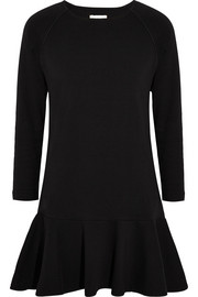Chinti and Parker Skater cotton and cashmere-blend jersey mini dress