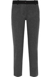 Wool and cashmere-blend tapered pants