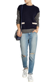Chinti and Parker Color-block wool sweater