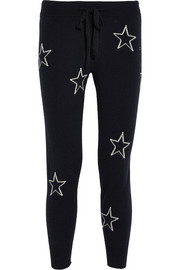 Chinti and Parker Star intarsia cashmere track pants
