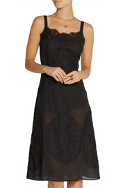 Dolce & Gabbana Silk-blend crepe and lace slip