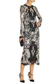 Dolce & Gabbana Floral-lace midi dress