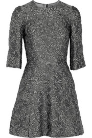 Dolce & Gabbana Metallic matelassé mini dress