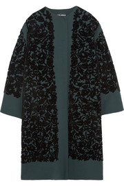 Dolce & Gabbana Flocked wool-blend coat