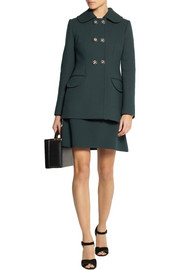 Dolce & Gabbana Crystal-embellished stretch-wool crepe jacket