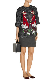 Dolce & Gabbana Appliquéd tweed top