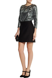 Dolce & Gabbana Embellished sequined crepe top