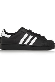 Superstar II leather sneakers