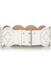 Studded leather waist belt