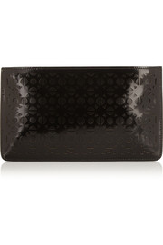 Alaïa Vienna laser-cut leather pouch